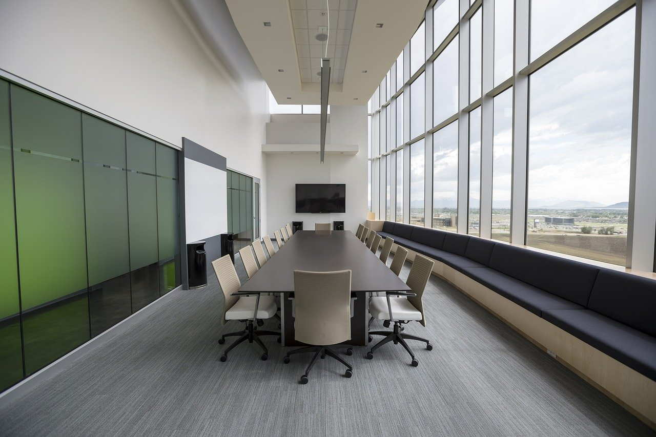 chairs, conference room, long table