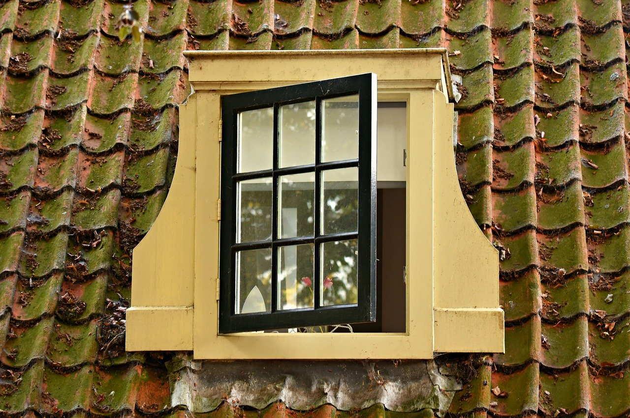 dormer window, pane, classic