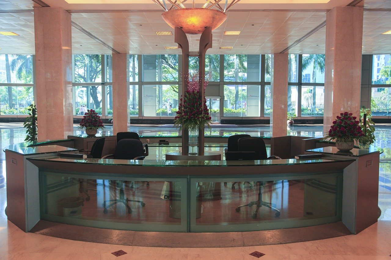 office, corporate, lobby